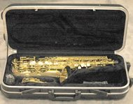Alto saxophone (gold colour lacquer)